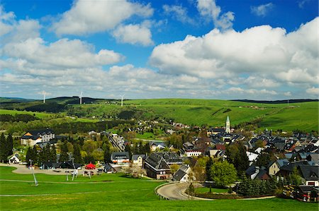 View of Oberwiesenthal, Erzgebirge, Saxony, Germany, Europe Stock Photo - Rights-Managed, Code: 700-06894764