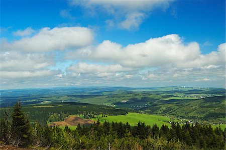 View from Fichtelberg of Erzgebirge, Saxony, Germany, Europe Stock Photo - Rights-Managed, Code: 700-06894762