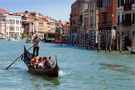 Gondola in Grand Canal, Venice, UNESCO World Heritage Site, Veneto, Italy, Europe Stock Photo - Rights-Managed, Code: 700-06895052