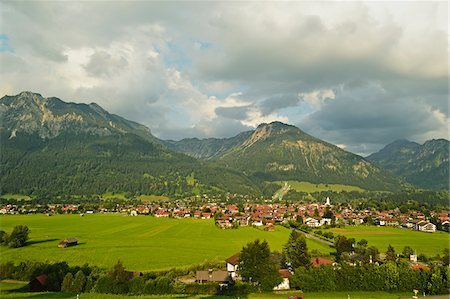 View of Oberstdorf, Allgaeu, Bavaria, Germany Stock Photo - Rights-Managed, Code: 700-06892804