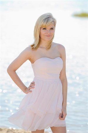 female only - Portrait of Young Woman at Lake in Summer, Bavaria, Germany Stock Photo - Rights-Managed, Code: 700-06936079