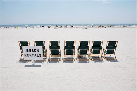 Row of beach chairs for rent, Atlantic City, New Jersey, USA Stock Photo - Rights-Managed, Code: 700-06939618