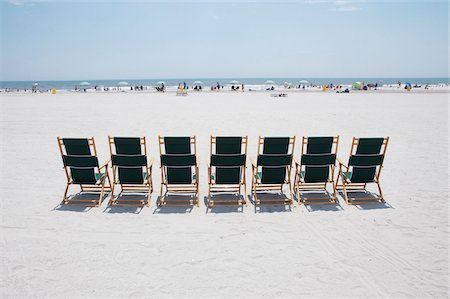 Row of beach chairs for rent, Atlantic City, New Jersey, USA Stock Photo - Rights-Managed, Code: 700-06939619
