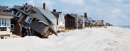 View of houses along beachfront in disrepair, Jersey Shore, New Jersey, USA Stock Photo - Rights-Managed, Code: 700-06939623