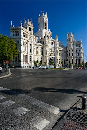 Europe, Spain, Comunidad de Madrid, Madrid, Plaza de Cibeles, Palacio de Correos (the old mail bulding) Stock Photo - Rights-Managed, Code: 700-06943749