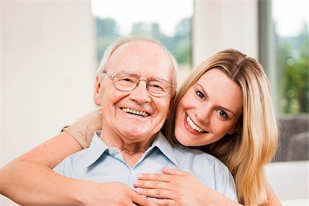 Portrait of Young Woman and Senior Man, Mannheim, Baden-Wurttemberg, Germany Stock Photo - Rights-Managed, Code: 700-06962196