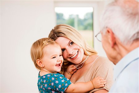 Young Woman and Baby Girl with Senior Man, Mannheim, Baden-Wurttemberg, Germany Stock Photo - Rights-Managed, Code: 700-06962205