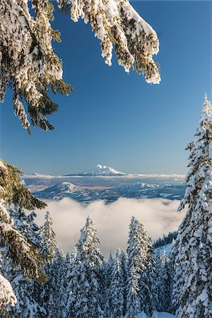 southern california - View of Mount Shasta form Mount Ashland, Southern Orgon, USA Stock Photo - Rights-Managed, Code: 700-07067221