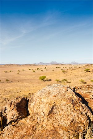 Scenic view of desert landscape, Damaraland, Kunene Region, Namibia, Africa Stock Photo - Rights-Managed, Code: 700-07067253