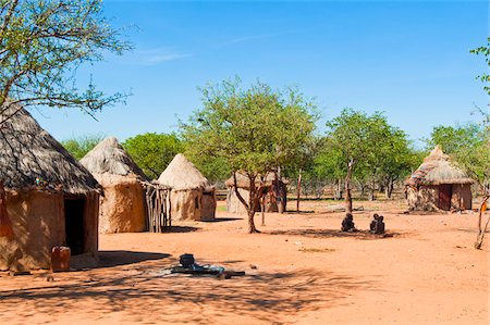Himba village, Kaokoveld, Namibia, Africa Stock Photo - Rights-Managed, Code: 700-07067375
