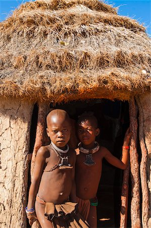 Portrait of Himba children, Kaokoveld, Namibia, Africa Stock Photo - Rights-Managed, Code: 700-07067371