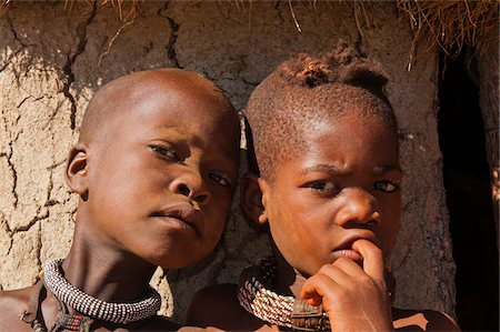 Close-up portrait of Himba children, Kaokoveld, Namibia, Africa Stock Photo - Rights-Managed, Code: 700-07067372