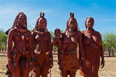 Portrait of Himba women, Kaokoveld, Namibia, Africa, Stock Photo - Rights-Managed, Code: 700-07067373