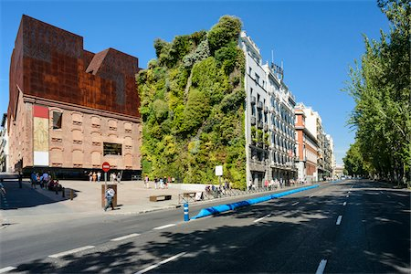 Vertical Garden at CaixaForum, Madrid, Comunidad de Madrid, Spain Stock Photo - Rights-Managed, Code: 700-07110871