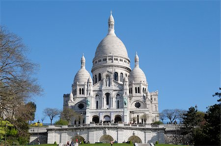Basilique du Sacre-Coeur, Montmartre, 18th Arrondissement, Paris, France Stock Photo - Rights-Managed, Code: 700-07122900