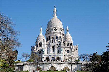 Basilique du Sacre-Coeur, Montmartre, 18th Arrondissement, Paris, France Stock Photo - Rights-Managed, Code: 700-07122900