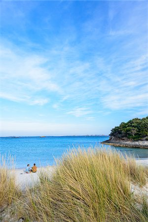 Beach scene, Plage du Petite Sperone near Bonifacio, Corsica, France Stock Photo - Rights-Managed, Code: 700-07148228