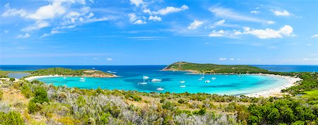 Scenic view of the Gulf of Rondinara (between Bonifacio and Porto-Vecchio) Corsica, France Stock Photo - Rights-Managed, Code: 700-07148232