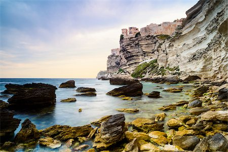 Scenic view of the Citadel and cliffs, Bonifacio, Corsica, France Stock Photo - Rights-Managed, Code: 700-07148272