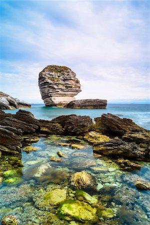 scenic view - View of the rocky shoreline, cliffs and Grain de Sable Rock, Bonifacio, Corsica, France Stock Photo - Rights-Managed, Code: 700-07148273