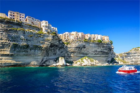 Coastal view of the Citadel and cliffs, Bonifacio, Corsica, France Stock Photo - Rights-Managed, Code: 700-07148280
