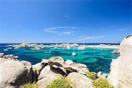 sailboat  ocean - Scenic view of Lavezzi Islands, Bonifacio, Corsica, France Stock Photo - Rights-Managed, Code: 700-07148297