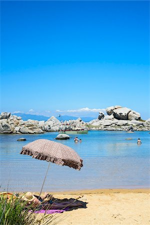 Scenic view of Lavezzi Islands, Bonifacio, Corsica, France Stock Photo - Rights-Managed, Code: 700-07148298
