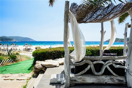 Close-up of lodgings, Plage d'Arone, Gulf of Porto, Corsica, France Stock Photo - Rights-Managed, Code: 700-07148301