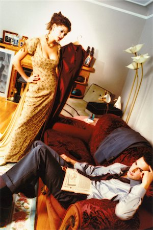 dominant woman - Couple Arguing in Living Room Stock Photo - Rights-Managed, Code: 700-07199494