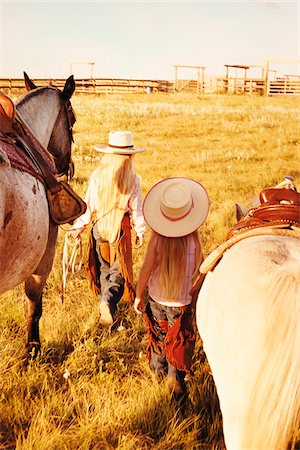 Two Girls with Horses Stock Photo - Rights-Managed, Code: 700-07199569