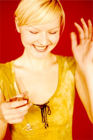 Woman with Glass of Wine Stock Photo - Rights-Managed, Code: 700-07199575