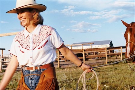 Woman Pulling Horse Stock Photo - Rights-Managed, Code: 700-07199570