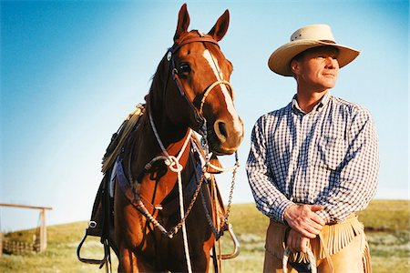 Portrait of a Man and Horse Stock Photo - Rights-Managed, Code: 700-07199571