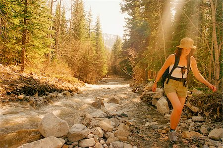 simsearch:600-00846421,k - Woman Hiking Stock Photo - Rights-Managed, Code: 700-07199581