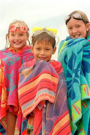 Children Wrapped in Beach Towels Stock Photo - Rights-Managed, Code: 700-07199594