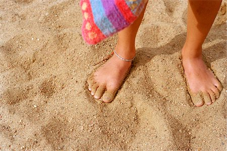 Boy's Feet in Sand on Beach Stock Photo - Rights-Managed, Code: 700-07199593