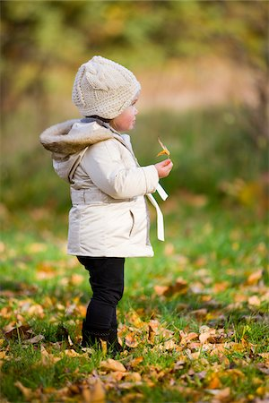 Portrait of Baby Girl Outdoors in Autumn, Scanlon Creek Conservation Area, Ontario, Canada Stock Photo - Rights-Managed, Code: 700-07199765
