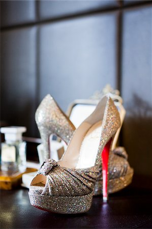 Close-up of women's open toe shoe, dress shoes, Ontario, Canada Stock Photo - Rights-Managed, Code: 700-07199841