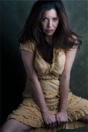 Portait of Mature Woman, Studio Shot Stock Photo - Rights-Managed, Code: 700-07199909
