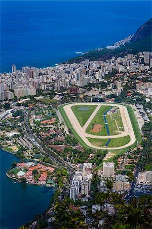 View from Corcovado Mountain of Hipodromo da Gavea, Rio de Janeiro, Brazil Stock Photo - Rights-Managed, Code: 700-07204117