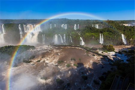 Scenic view of Iguacu Falls with rainbow, Iguacu National Park, Parana, Brazil Stock Photo - Rights-Managed, Code: 700-07204167