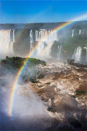 rainbow - Scenic view of Iguacu Falls with rainbow, Iguacu National Park, Parana, Brazil Stock Photo - Rights-Managed, Code: 700-07204169