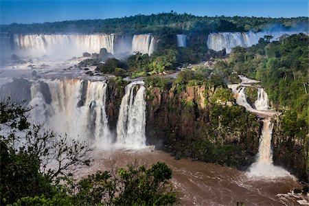 Scenic view of Iguacu Falls, Iguacu National Park, Parana, Brazil Stock Photo - Rights-Managed, Code: 700-07204191