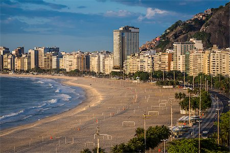 Copacabana Promenade and Copacabana Beach, Rio de Janeiro, Brazil Stock Photo - Rights-Managed, Code: 700-07204217