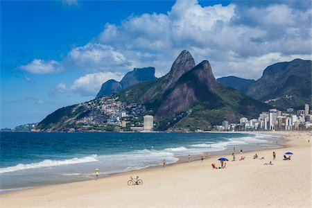 Scenic view of Ipanema Beach, Rio de Janeiro, Brazil Stock Photo - Rights-Managed, Code: 700-07204232