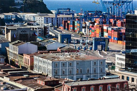 Shipping Port, Valparaiso, Chile Stock Photo - Rights-Managed, Code: 700-07206669