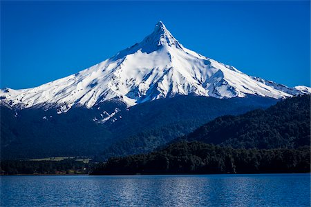 Puntiagudo Volcano, Lake Todos los Santos, Parque Nacional Vicente Perez Rosales, Patagonia, Chile Stock Photo - Rights-Managed, Code: 700-07202713