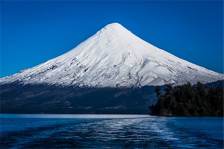 Scenic view of Todos los Santos Lake and Osorno Volcano, Parque Nacional Vicente Perez Rosales, Patagonia, Chile Stock Photo - Rights-Managed, Code: 700-07203983