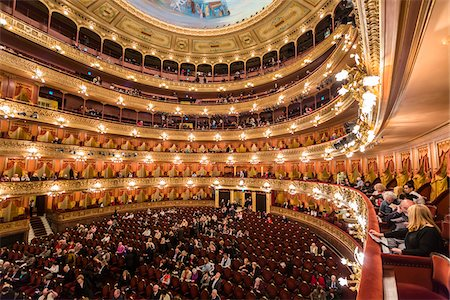 Interior of Teatro Colon, Buenos Aires, Argentina Stock Photo - Rights-Managed, Code: 700-07237765