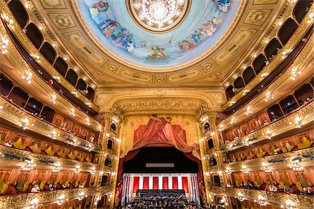 Interior of Teatro Colon, Buenos Aires, Argentina Stock Photo - Rights-Managed, Code: 700-07237766